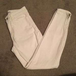 American Apparel white high waisted pants